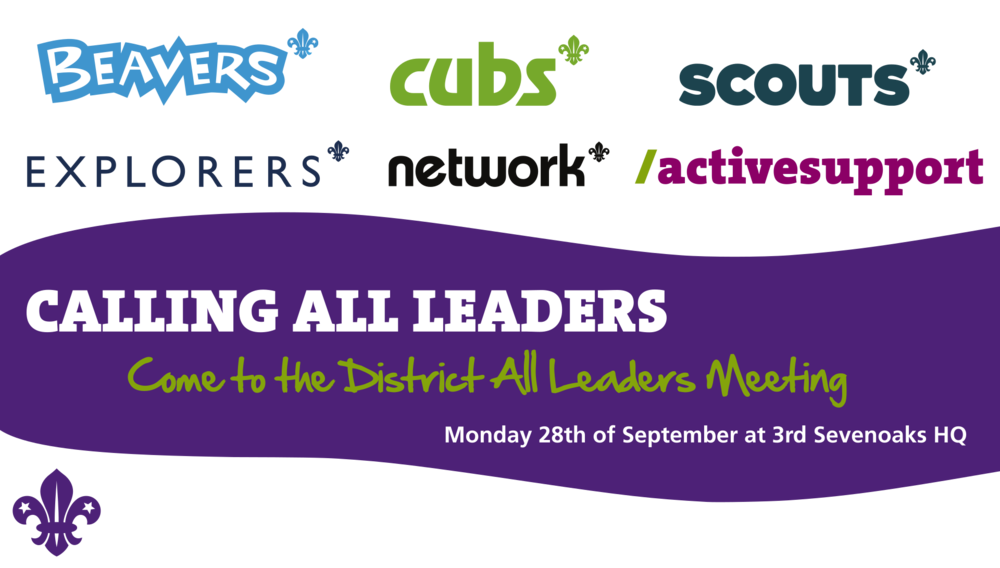 District All Leaders Meeting Sept 28th POSTPONED