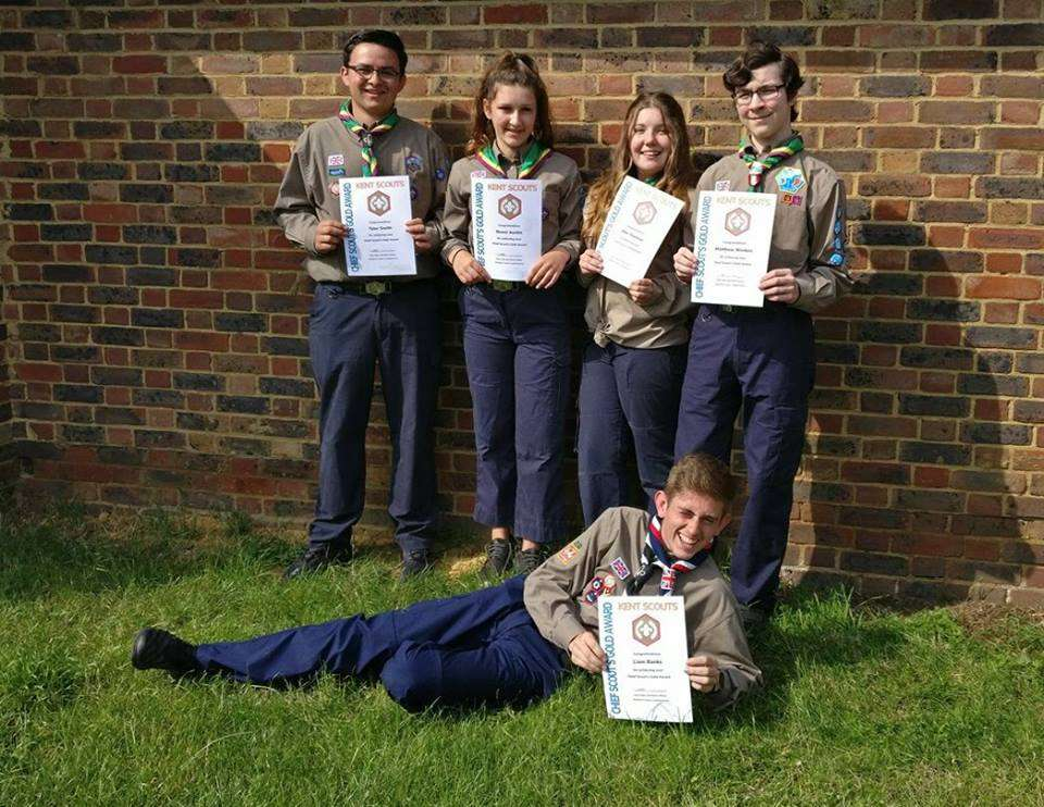 Sevenoaks Scouts Receive their Gold Award